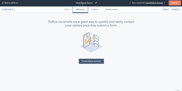 HubSpot and WordPress forms in HubSpot
