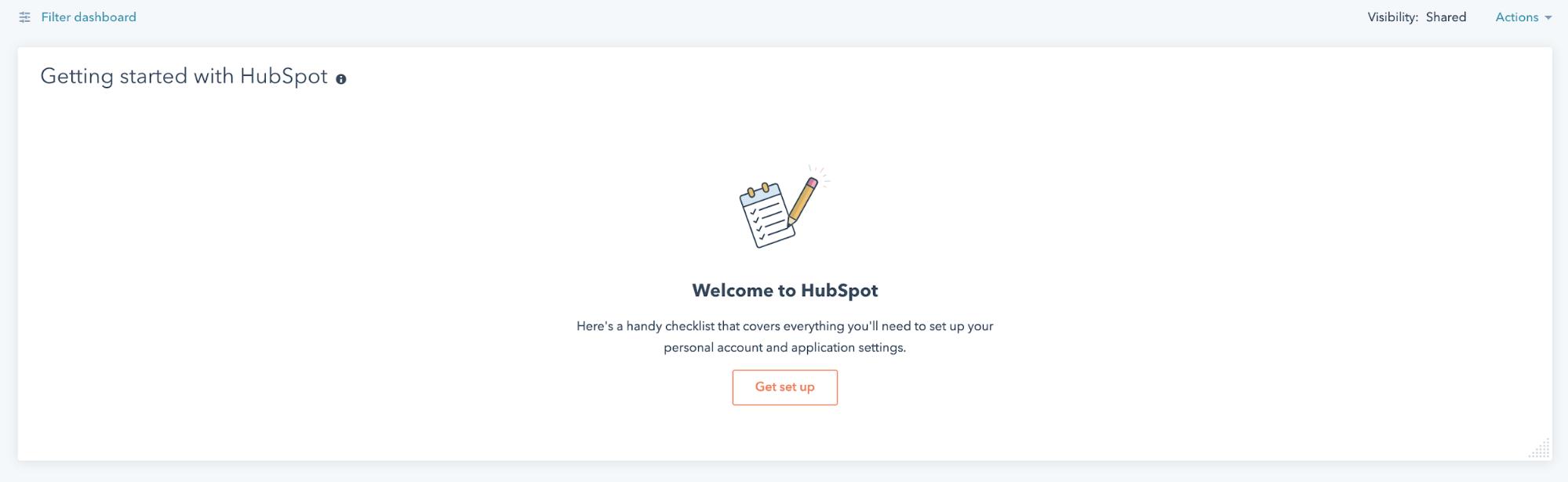 HubSpot setup