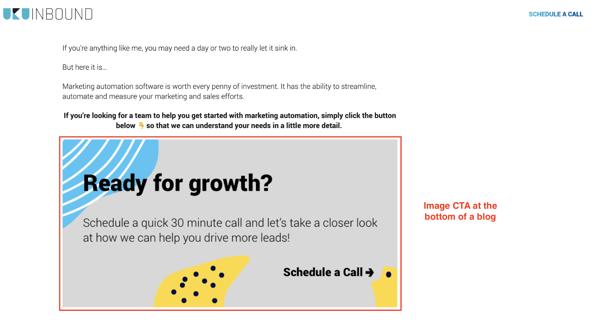 HubSpot and WordPress end content CTA