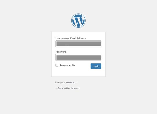 HubSpot and WordPress: WordPress login